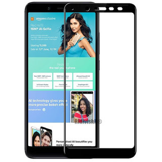 Wondrous(TM) Edge to Edge Tempered Glass (Curved Arc Edges  9H Hardness) for Redmi Y2