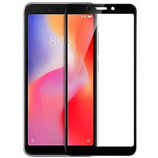 Wondrous(TM) Edge to Edge Tempered Glass (Curved Arc Edges  9H Hardness) for Redmi 6A
