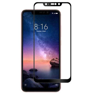 Wondrous(TM) Edge to Edge Tempered Glass (Curved Arc Edges  9H Hardness) for Redmi Note 6 Pro