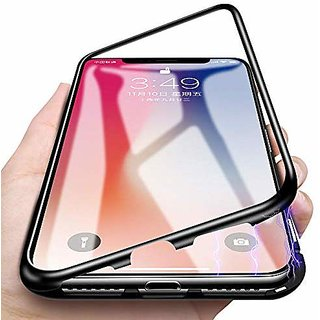 detailed look 2258b de07f RGW BACK CASE COVER FOR SAMSUNG GALAXY A7 2018 MAGNETIC COVER METAL FRAME  TEMPERD GLASS COVER BLACK