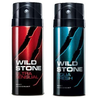 wild stone collection fresh spicy deo body spray for men pack of (2) pcs