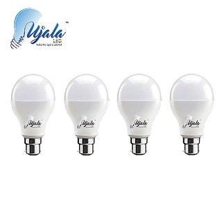 Ujala Led 9W MAX-GLOW Bulb - 100 Lumen/Watt, B22 Base (Aluminium), PC Diffuser, 2Year Warranty(Pack of 4)