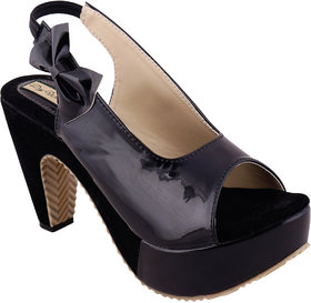 Dajwari Women's Black Synthetic Casual and Partywear Wedges