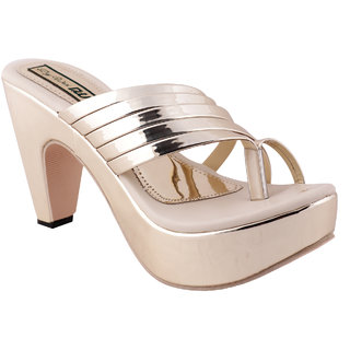 Dajwari Women's Silver Synthetic Casual and Partywear Wedges