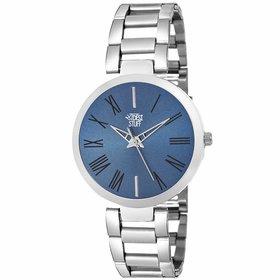 Swadesi Stuff Blue Fashion Luxury Metal Strap watch for Girls  Women