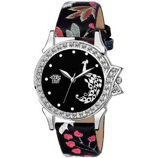 Swadesi Stuff Stylish Black Analog Watch for Girls and Women Watch -for Girls 115 mor blublk
