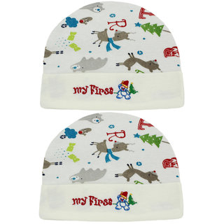 f1f3809b792 Neska Moda Baby Boys And Girls Multicolor Cap For 0 To 18 Month Pack Of 2
