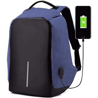 ZELP Anti Theft Laptop Backpack Bag for Men with USB Charging (Black)