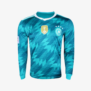 low priced d9b54 27803 Germany national football team polyester full sleeve green colour 18/19  away jersey