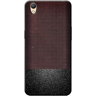 the best attitude 94cc2 a66bc Cellmate Premium Look Soft Fabric Protective TPU Waterproof Mobile Back  Case Cover For Oppo A37f - Brown & Sparkling Black dual tone