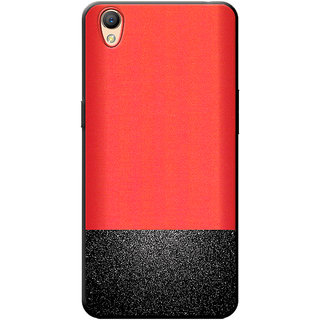 huge selection of 726a5 3e003 Cellmate Premium Look Soft Fabric Protective TPU Waterproof Mobile Back  Case Cover For Oppo A37f - Red & Sparkling Black dual tone