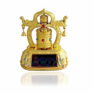 KARTIK Tibetan Solar Energy Prayer Wheel Feng Shui Dharma Wheel for Fiat Linea