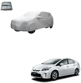 Auto Addict Silver Matty Body Cover with Buckle Belt For Toyota Prius