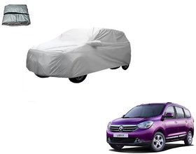 Auto Addict Silver Matty Body Cover with Buckle Belt For Renault Lodgy