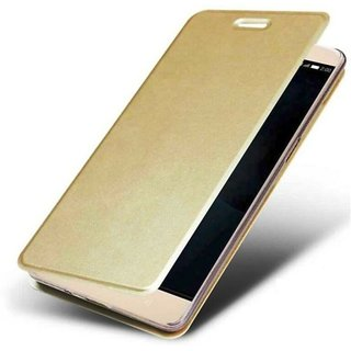 Flip Cover for VIVO Y66  (Gold, Artificial Leather)