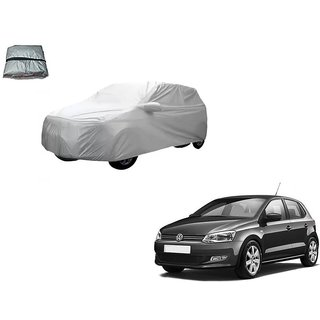 Auto Addict Silver Matty Body Cover with Buckle Belt For Volkswagen Polo