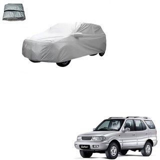 Auto Addict Silver Matty Body Cover with Buckle Belt For Tata Safari Dicor