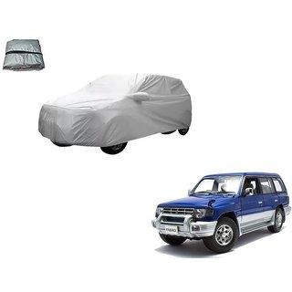 Auto Addict Silver Matty Body Cover with Buckle Belt For Mitsubishi Pajero