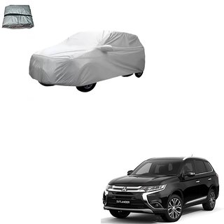 Auto Addict Silver Matty Body Cover with Buckle Belt For Mitsubishi Outlander