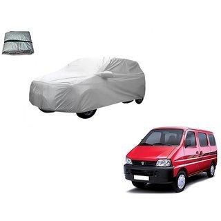 Auto Addict Silver Matty Body Cover with Buckle Belt For Maruti Suzuki Eeco