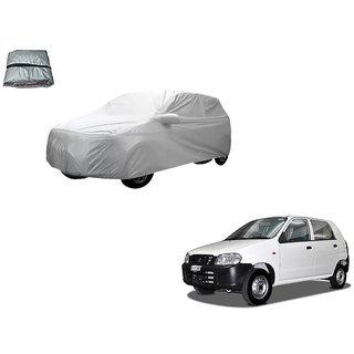 Auto Addict Silver Matty Body Cover with Buckle Belt For Maruti Suzuki Alto