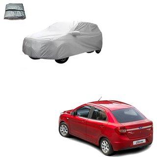 Auto Addict Silver Matty Body Cover with Buckle Belt For Ford Figo::Aspire
