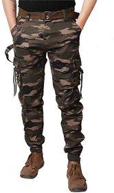 Men's Multicolor Embellished Cotton Regular Fit Cargo Pant