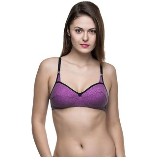 Alive Women's Seamless Full Coverage High Impact Support Wirefree Regular Bra (Pack of 2)