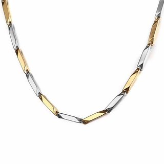 Italian Silver Gold Imported Quality Chain for Men by Shine Art (22 inch)