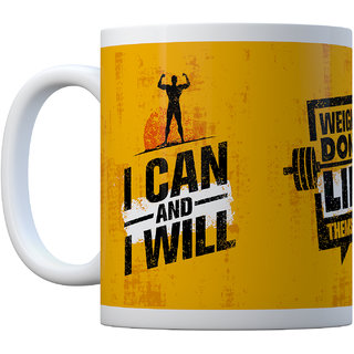 Gym Coffee Mug  I can  I will