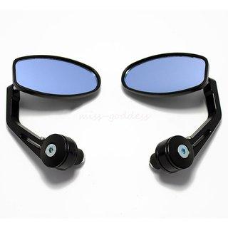 Handle Bar Edge OVEL Grip Mirror for Bike Bullet Standard TVS Ntorq,Yamaha NMax, Suzuki Gixxer, GXS, Burgman scooty-01