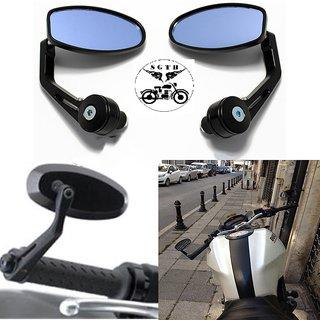 Handle Bar Edge OVEL Grip Mirror for Bike Bullet Standard TVS Ntorq,Yamaha NMax, Suzuki Gixxer, GXS, Burgman scooty-02