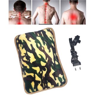 Electric Heat Bag Hot Gel Bottle Pouch Massager Warm for Winter Aches Reliever.