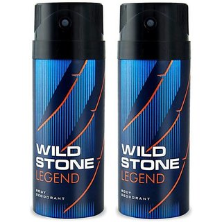 Wild Stone Legend Deodorant Spray Pack of 2 Combo (150ML each) Deodorant Spray - For Men