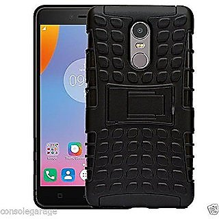 Lenovo K6 Note 5.5 inch shockproof Armor defender with stand Hybrid cover case - BLACK
