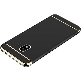 Imperium Luxury 3in1 Electroplated Hard PC Back (Matte Finish)  Cover for Samsung Galaxy J2 2018 Edition (Black)