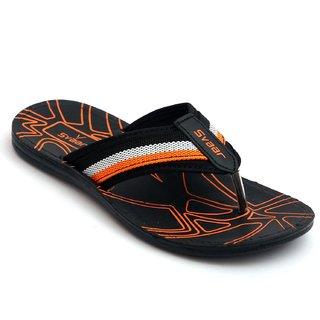 Svaar Black and Orange Slippers