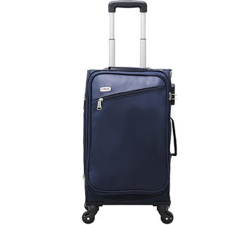 Timus Cameroon Plus 55 CM 4 Wheel Strolley Suitcase For Travel Cabin Luggage Trolley Bag (Blue)