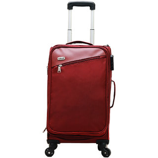 Timus Cameroon Plus Red 55 CM 4 Wheel Trolley Suitcase Cabin Luggage