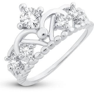 Sukkhi Stylish Royal Crown Engagement Rhodium Plated Ring for women