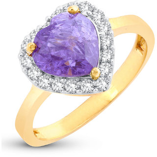 Sukkhi Eye-catchy Heart Valentine Gold Plated Ring for women