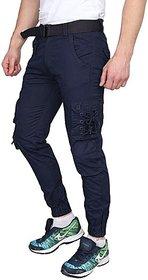 Xee Blue Regular Fit Cargo For Men