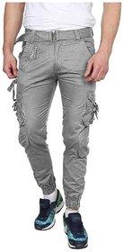 Xee Men Grey Regular Fit Cargo