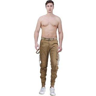 Xee Gold Regular Fit Cargo For Men