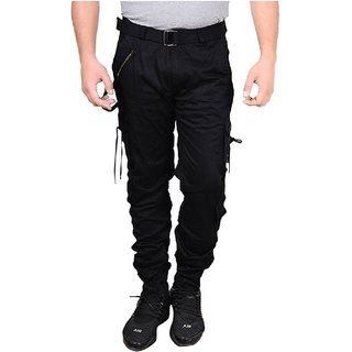 Xee Men Black Regular Fit Cargo