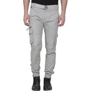 Xee Grey Regular Fit Cargo For Men