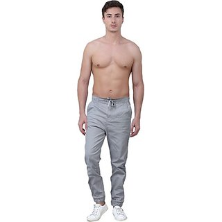 Xee Regular Fit Men's Grey Trousers