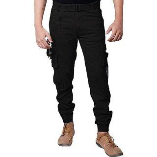 Xee Men's Black Cargo