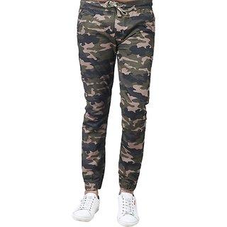 Xee Slim Fit Men Green Trousers