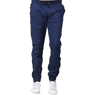 Xee Blue Regular Fit Trousers For Men